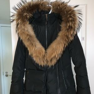 2018 Mackage Jacket black with brown fur!
